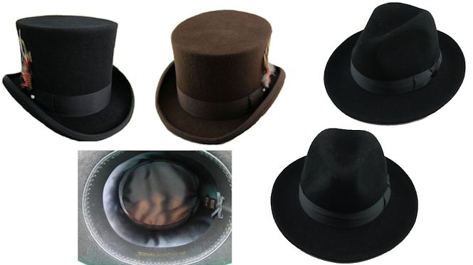 High Quality Australian Wool Hats with Satin Lining