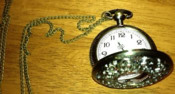 Antique Brass Finish Filigree Steampunk Victorian Pocket Watch Pendant