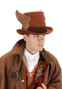 Steampunk Winged Hat Band (Hat not included)