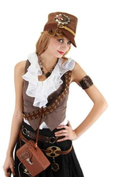 Steampunk Cadet Hat - Brown