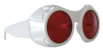 Hyper Vision Goggles - White with Red Lenses.