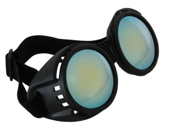 Industrial Goggles -  Black & Blue with Mirror Lenses