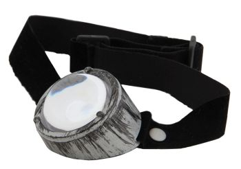 Steampunk Monovision Silver & Black Eye Patch Goggles