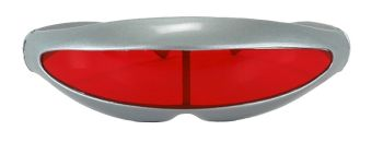 Roboto Glasses - Silver with Red Lenses