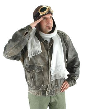 Steampunk Vintage Aviator Costume Kit - Hat, Goggles and Scarf