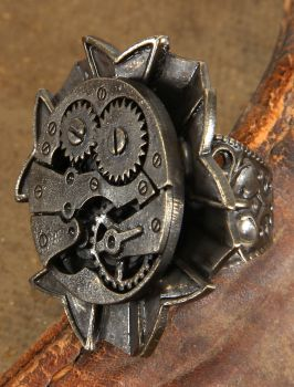 Steampunk Watch Gears Ring