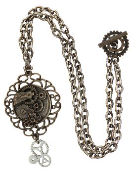 Steampunk Butterfly Gear Necklace