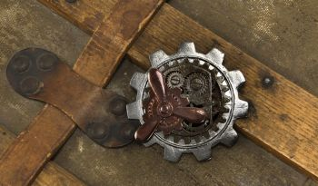 Steampunk Large Gear Propeller Pin