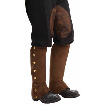 Steampunk Brown Suede Spats