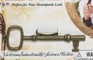 Steampunk Antique Brass Finish Key Ring