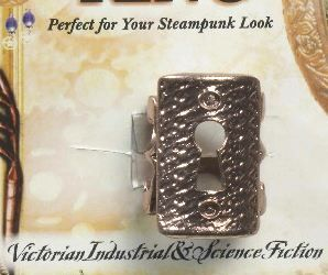Steampunk Copper Finish Keyhole Ring