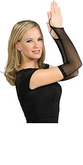 Black Fishnet Fiingerless Gloves