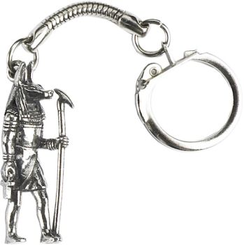 Egyptian God Figure Key Ring - Pewter
