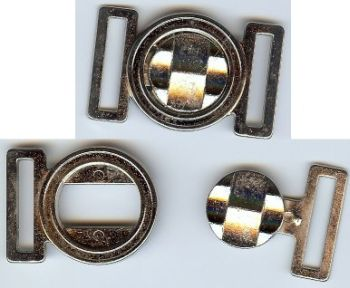 Textured Solid Circle Clasp Closure in Nickel or Silver Finish