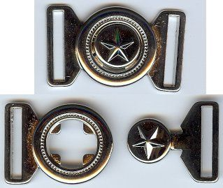 Texas Lone Star Clasp Closure in Shiny Silver or Nickel Finish