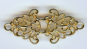Gold Filigree Trivet Cloak Clasp