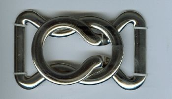 Small Silver/Nickel Finish Buckle Clasp