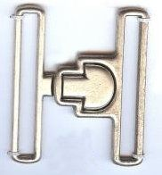 Latching Buckle Clasp in Matte Silver Finish