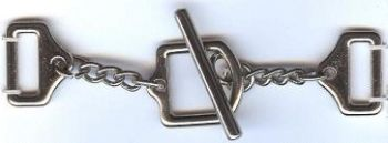 Chain Cuff Link Clasp Closure in Nickel Finish