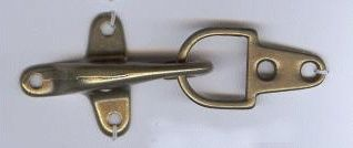 Latch Clasp Closure in Antique Brass Finish