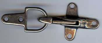 Over-Latch Clasp Closure in Antique Silver Finish