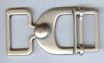 Belt Buckle Latch in Antique Silver Finish