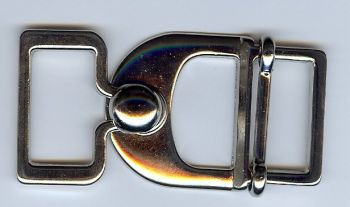 Belt Buckle Latch in Shiny Silver Finish