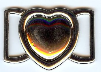 Interlocking Heart Clasp - Nickel finish