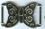 Butterfly Clasp - Nickle Finish