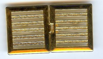 Square Horizontal  Bar Clasp  - Gold Finish