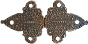 Antique Copper Finish Fleur de Lis Clasp