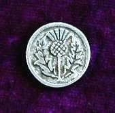 "Thistle Pewter Buttons - Card of 4    (5/8"")"