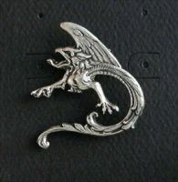 Griffin Pewter Pin