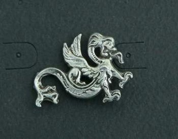 Small Dragon of the Air and Sea Pewter Pin
