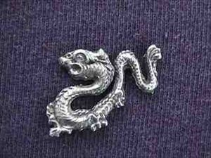 Tibetan Dragon Pin - Pewter