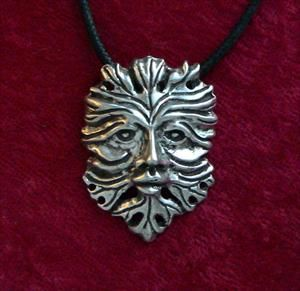 The Greenman Necklace - Solid Pewter
