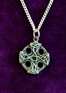 Equal Armed Celtic Cross Necklace - Solid Pewter