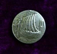 Viking Ship Button (Card of 4) 3/4""