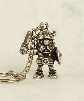 Viking Warrior Key Ring - Pewter