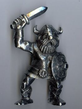 Large Pewter Viking Raider Figurine - Sword Raised