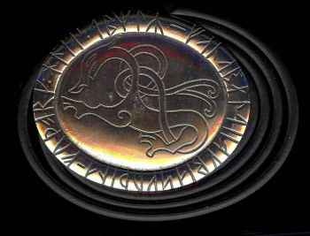 Dragon (Drage) Belt Buckle and Black Leather Belt
