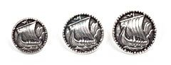 Oseberg Viking Ship Pewter Button 20MM - 13/16""