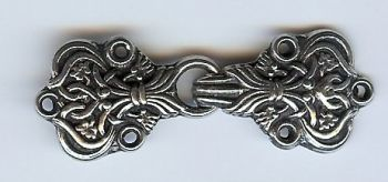 Large Saga Cloak Clasp - Pewter