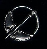 Small Pin-Back Pewter Viking Brooch