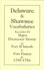 Delaware and Shawnee Vocabularies