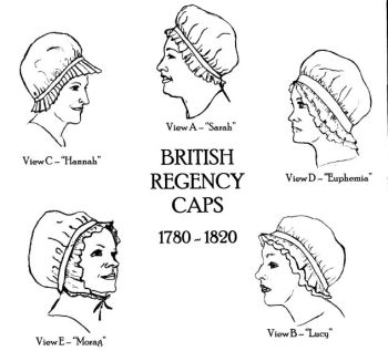 1780-1820 British Regency Caps Pattern