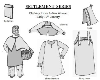 19th Century Clothing for an Indian Woman Pattern
