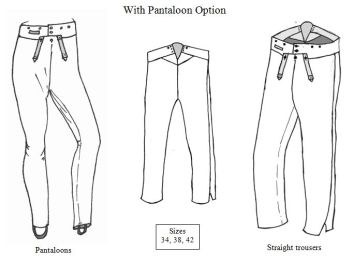 1800 - 1825 Men's Narrow Fall Trousers Pattern with Pantaloon Option