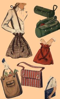 1945 Misses' and Women's Bags Pattern