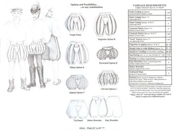 Paned Slops and Breeches Pattern